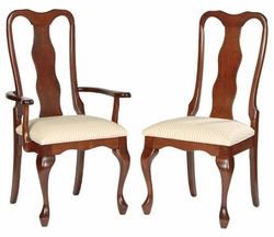 Ann Arden Amish Hip Queen Anne Dining Chairs