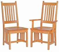 Ann Arden Amish Mission Dining Chair with Base