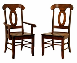 Ann Arden Amish Napoleon Dining Chairs