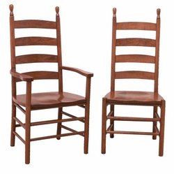 Ann Arden Amish Shaker Ladderback Dining Chairs