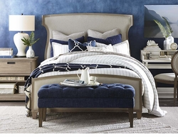 Artisanal Upholstered Bed by Bassett