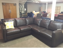 B591 NATUZZI LEATHER SECTIONAL SOFA