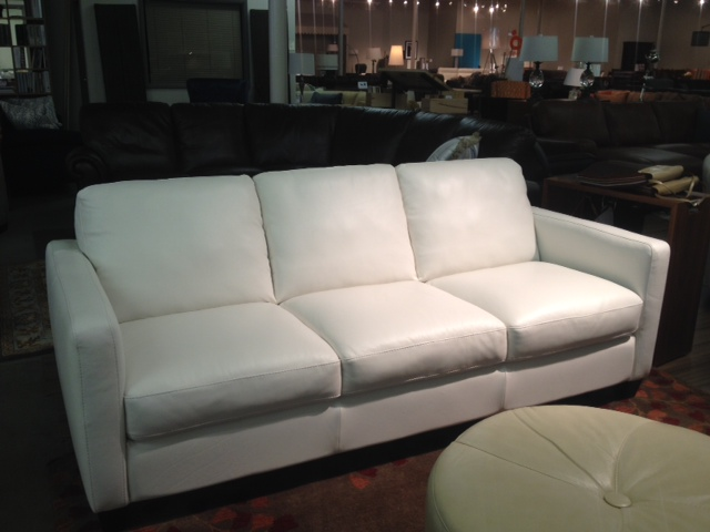 B591 Sofa by Natuzzi Editions in White Protected Leather