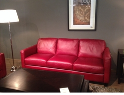 B591 Sofa in Red Leather by Natuzzi Editions