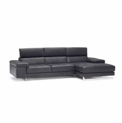 B619 Natuzzi Leather Sectional Sofa