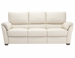 B693 Natuzzi Editions Leather Reclining Sofa