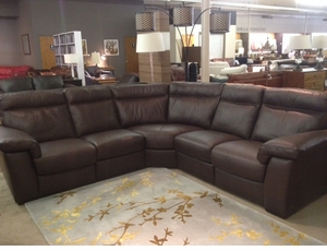 B757 Reclining Sectional by Natuzzi Editions