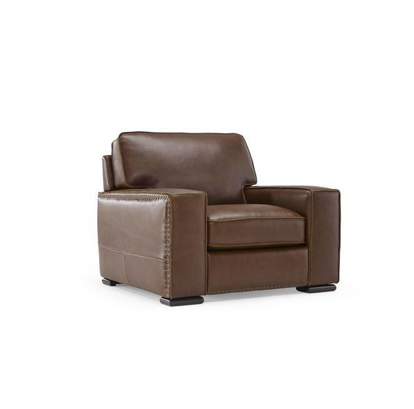 b858 natuzzi leather club chair - Club Chair