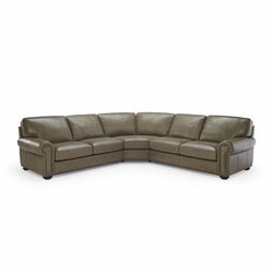 B861 Natuzzi Leather Sectional