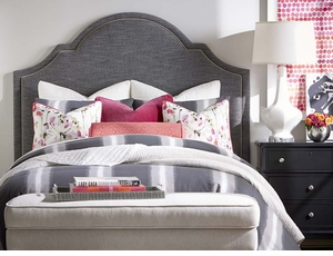 Barcelona Bonnett Upholstered Headboard by Bassett Furniture