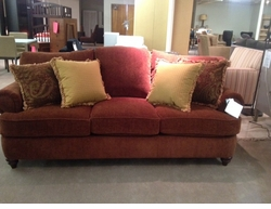 Barclay Camel Back Sofa by Bassett Furniture