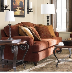 Barclay Sofa and Chair by Bassett Furniture