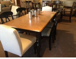 Bassett Custom Dining Set Floor Model Clearance