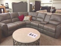 Bassett Reclining Sectional with 3 Power Recliners