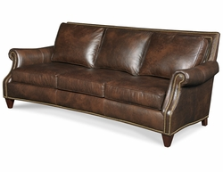 Bates Leather Sofa by Bradington-Young