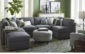 Beckie U Shaped Sectional Sofa by Bassett