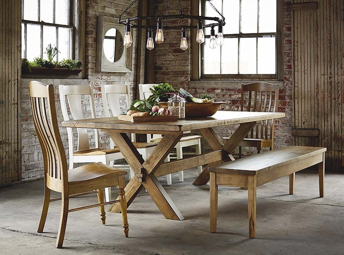 Benchmade 90 Inch Crossbuck Table By Bassett Dining Tables