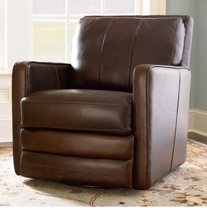 Bishop Leather Swivel Chair