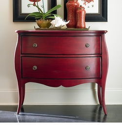 Bombe Chest in Red by Bassett Furniture