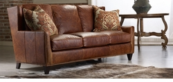 American Naturals Distressed Leather Sofa