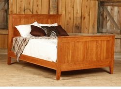 Amish Canterbury Solid Cherry Panel Bed