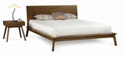 Catalina Modern Walnut Bed by Copeland Furniture