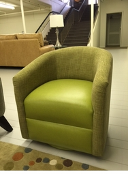 Classic Modern Barrel Back Swivel Chair