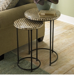 Coco Bead Nesting Tables by Bassett Furniture