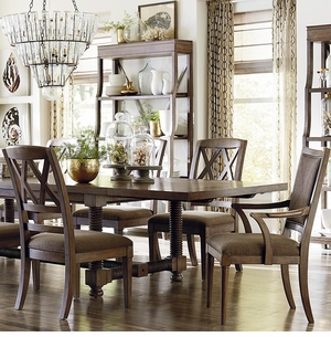 "Compass 104"" Dining Table by Bassett Furniture"