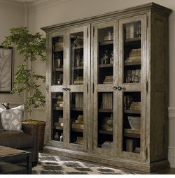 Compass Double Display Cabinet by Bassett