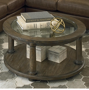 Compass Round Cocktail Table