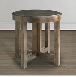 Compass Round Lamp Table by Bassett