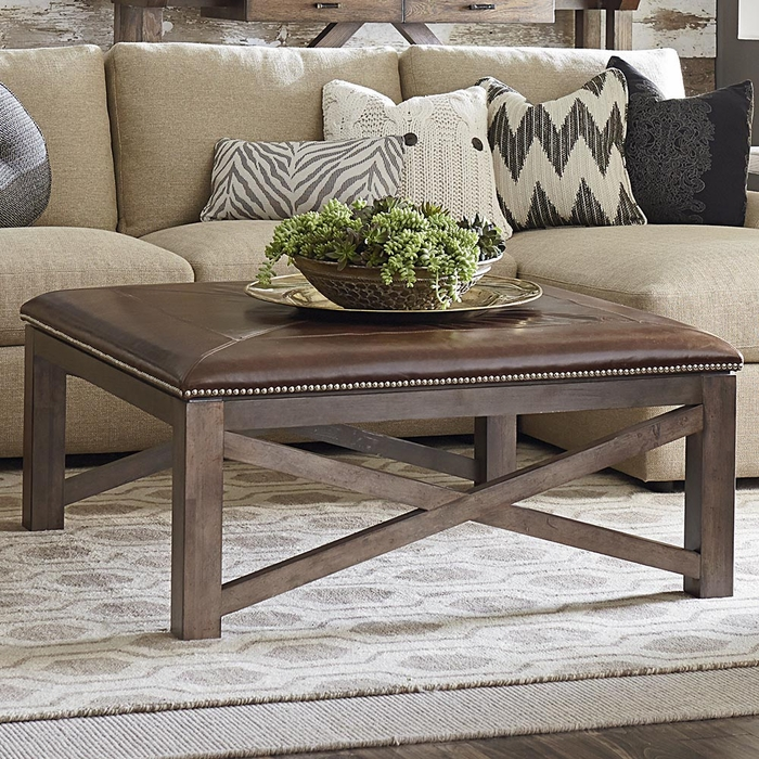 Compass Square Ottoman Cocktail Table Coffee Tables And Accent Tables