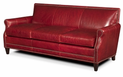 Corbeau Leather Sofa by Bradington-Young