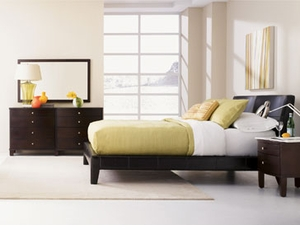 cosmo leather platform bed