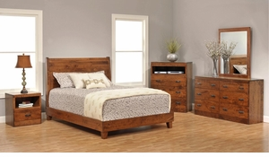 Crossan Amish Sleigh Bedroom Set