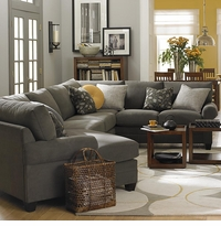 CU2 Custom Cuddle Sectional Sofa by Bassett  Furniture
