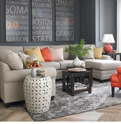 CU2 Custom Sock Arm Sectional by Bassett Furniture
