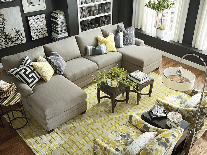 Cu2 Double Chaise Sectional By Bassett Sectional Sofas