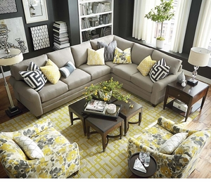 CU2 L Shaped Sectional Sofa by Bassett