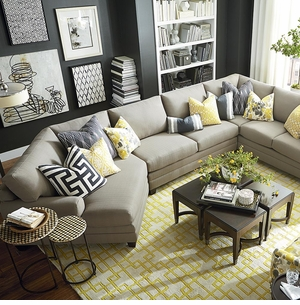 CU2 Sectional with Cuddle Chaise by Bassett