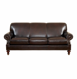 Custom Classics Leather Sofa By Bassett Furniture