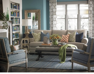 HGTV Custom Large Great Room Sofa by Bassett Furniture
