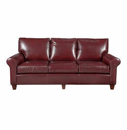 Custom Leather Sofa by Bassett Furniture