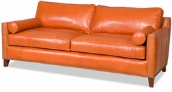 Davlin Leather Sofa by Bradington-Young
