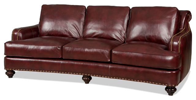 Diego Leather Sofa by Bradington-Young