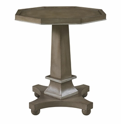 Discoveries Pedestal Accent Table by Bassett Furniture