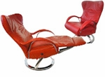 Diva Leather Recliner by Lafer