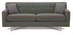 Dorset Chrome Leg Sofa by Rowe
