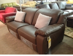 Double Reclining Leather Sofa by Italsofa